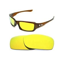 NEW POLARIZED CUSTOM 24k GOLD LENS FOR OAKLEY FIVES SQUARED SUNGLASSES